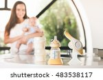 manual breast pump  mothers... | Shutterstock . vector #483538117