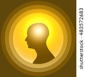 silhouette of the human head... | Shutterstock .eps vector #483572683
