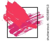 brush stroke set. hand paint... | Shutterstock .eps vector #483588913