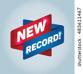 new record  arrow tag sign. | Shutterstock .eps vector #483611467