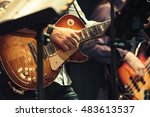 rock and roll music background  ...   Shutterstock . vector #483613537