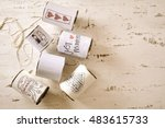 assorted cans with married... | Shutterstock . vector #483615733