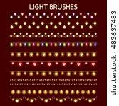 shining garland. light brushes... | Shutterstock .eps vector #483637483