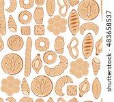 hand drawn bakery on white...   Shutterstock .eps vector #483658537