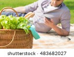 picnic basket full of food ...