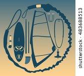 equipment for windsurfing.   Shutterstock .eps vector #483688513