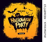 halloween party. vector... | Shutterstock .eps vector #483689713