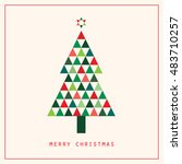 christmas greeting card with... | Shutterstock .eps vector #483710257