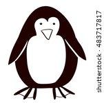 pinguin cartoon icon. animal of ... | Shutterstock .eps vector #483717817