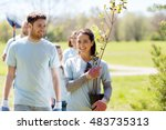 volunteering  charity  people... | Shutterstock . vector #483735313