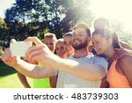 fitness  sport  friendship ...   Shutterstock . vector #483739303