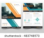 orange green business brochure... | Shutterstock .eps vector #483748573