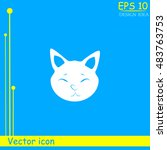 cat vector icon and animal... | Shutterstock .eps vector #483763753