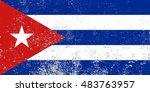 grunge cuba flag.vector...
