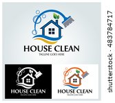house clean logo design... | Shutterstock .eps vector #483784717