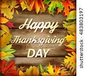 thanksgiving background | Shutterstock .eps vector #483803197