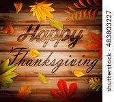 thanksgiving background | Shutterstock .eps vector #483803227