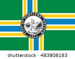 flag of portland in state of... | Shutterstock . vector #483808183