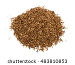 heap of dry soft pipe tobacco... | Shutterstock . vector #483810853