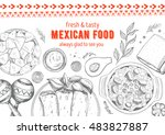 mexican food frame. mexican... | Shutterstock .eps vector #483827887