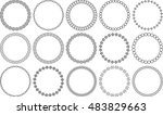 set of 15 simple round vector...