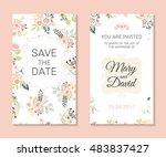 wedding set. romantic vector... | Shutterstock .eps vector #483837427