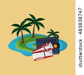 island with vacation travel... | Shutterstock .eps vector #483838747