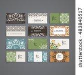 set of vector design templates. ... | Shutterstock .eps vector #483840517