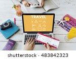 travel navigation journey... | Shutterstock . vector #483842323