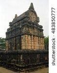 Small photo of NALANDA, SRI LANKA - JANUARY 23: Singhalese gedige at January 23, 2001 at Nalanda, Sri Lanka. Gedige isanancient Hindu temple.