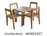 table with chairs on white... | Shutterstock . vector #483851827