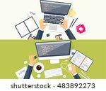 programming coding. flat... | Shutterstock . vector #483892273