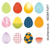 illustration of twelve easter... | Shutterstock .eps vector #483897697