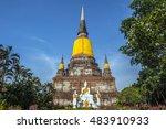 temple pagoda of wat... | Shutterstock . vector #483910933