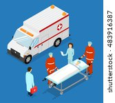 ambulance service concept.... | Shutterstock .eps vector #483916387