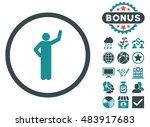 assurance icon with bonus... | Shutterstock .eps vector #483917683