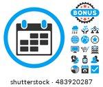 calendar icon with bonus... | Shutterstock . vector #483920287