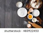 baking ingredients for homemade ... | Shutterstock . vector #483922453