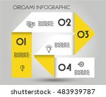yellow origami infographic... | Shutterstock .eps vector #483939787