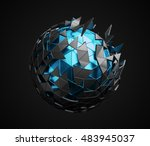 abstract 3d rendering of low... | Shutterstock . vector #483945037