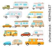recreational vehicle icons set... | Shutterstock . vector #483945637