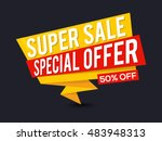 super sale with 50  off ... | Shutterstock .eps vector #483948313