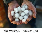 A Handful Of Large Hail In...