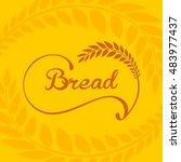 bread logo framed by ears of... | Shutterstock .eps vector #483977437