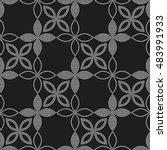 tiled seamless flower pattern... | Shutterstock .eps vector #483991933