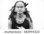 maori tattooed man in florence... | Shutterstock . vector #483995323