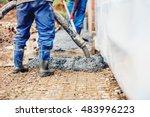 constuction details   worker... | Shutterstock . vector #483996223