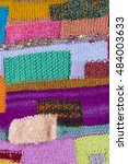 striped colorful wool texture... | Shutterstock . vector #484003633