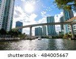 downtown miami along the miami... | Shutterstock . vector #484005667