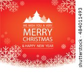 merry christmas and happy new... | Shutterstock .eps vector #484011493